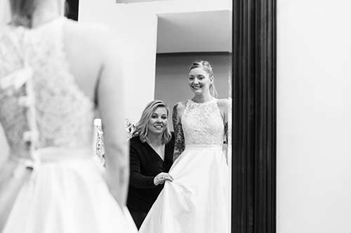 Dress Fitting at Andrea's Bridal